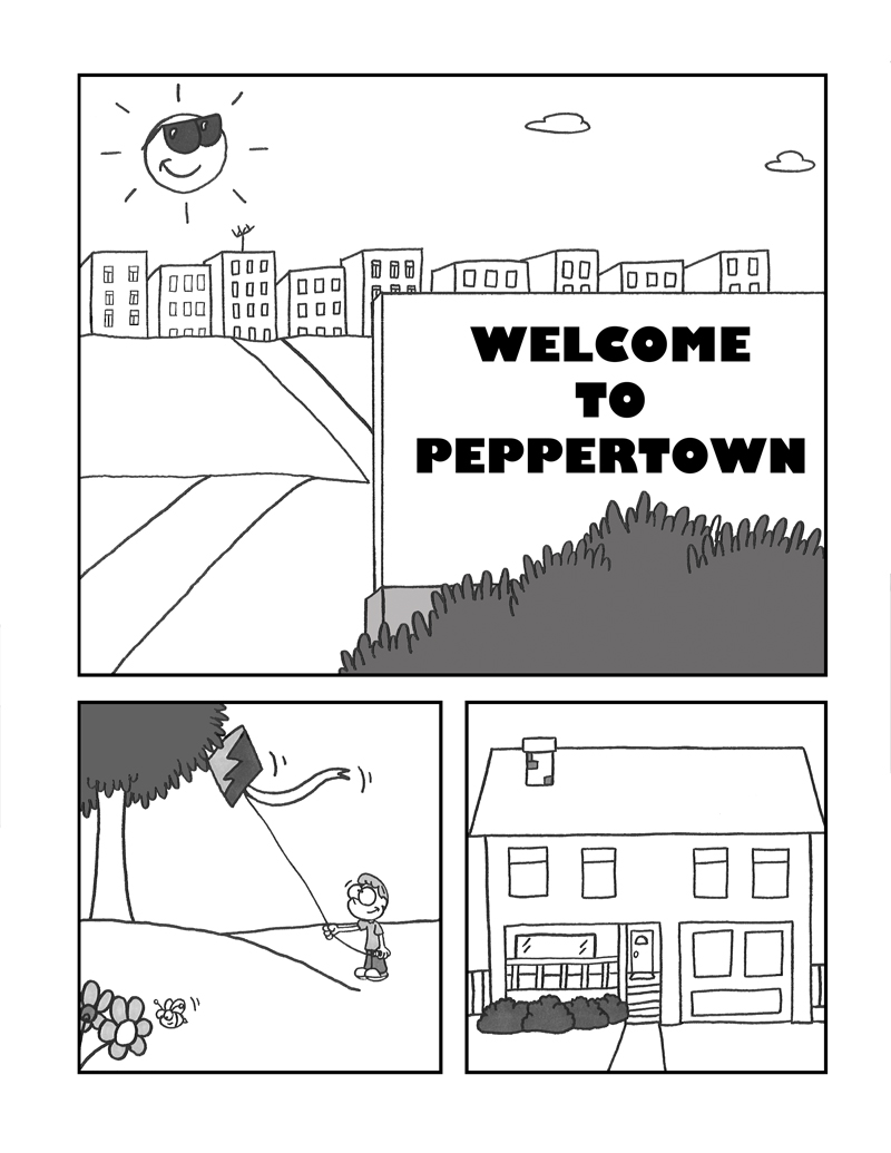 WELCOME TO PEPPERTOWN: POPULATION JOE! (STORY 1, PG. 1)